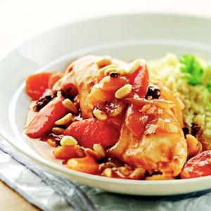 Марокканское куриное тушеное мясо