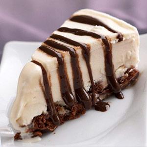 Пирог из шоколадного мороженого
