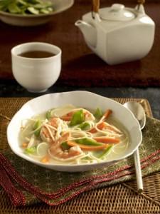 Азиатский кокосовый суп с креветками