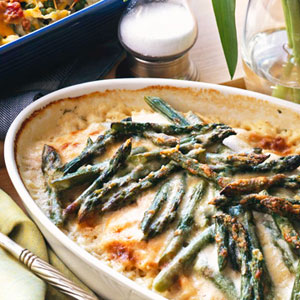 Запеканка со спаржей в беконе – кулинарный рецепт