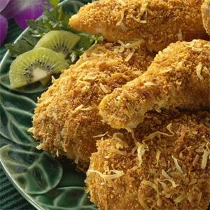 Испеченный цыпленок с ананасом