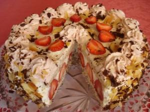 Клубничный пирог Маскарпоне
