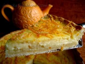 Лимонный торт с рикоттой и миндалем