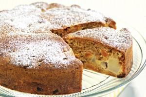 Пирог с абрикосами и грушей