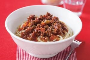 Рагу из говядины со спагетти