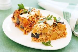 Спагетти с тыквой и козьим сыром