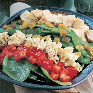 Азиатский салат из шпината