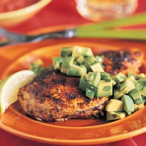 Жареная курица с авокадо