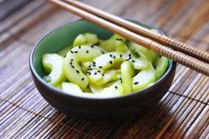 Сладкий салат из огурцов