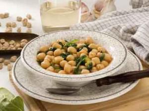 Греческий нут со шпинатом