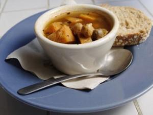 Суп с кабачками и перцем