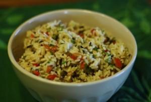 Карибский рисовый салат