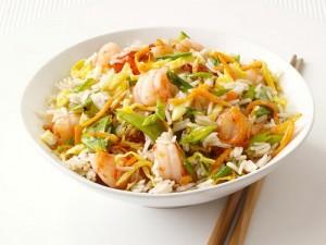 Острые креветки с рисом