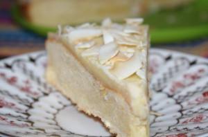 Простой белый торт