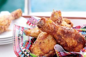 Жареная курица с пахтой