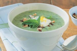 Суп с цуккини и базиликом