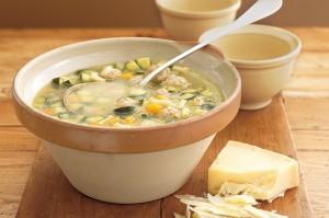 Суп с цуккини и фрикадельками