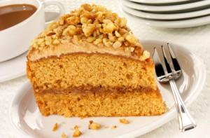 Кофейный пирог с грецким орехом