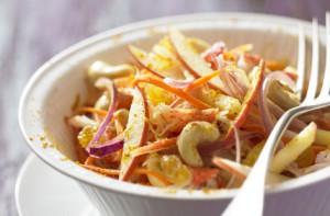 Индийский салат с яблоками