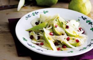 Салат из груши, фенхеля и граната
